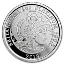 2018 Great Britain 1/4 oz Proof Platinum Britannia