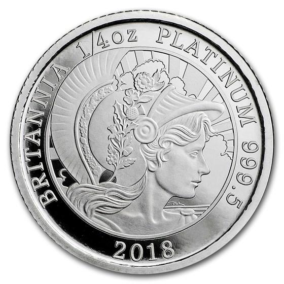2018 Great Britain 1/4 oz Proof Platinum Britannia