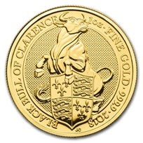 2018 Great Britain 1 oz Gold Queen's Beasts The Bull