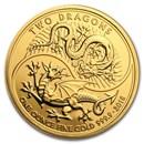 2018 Great Britain 1 oz Gold Two Dragons BU