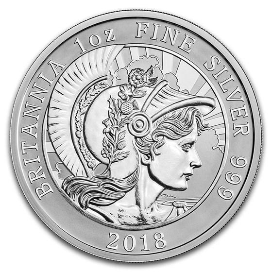 2018 Great Britain 1 oz Reverse Proof Silver Britannia
