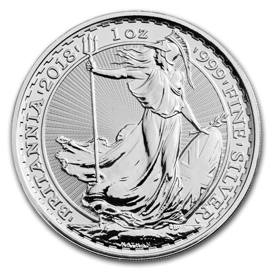 2018 Great Britain 1 oz Silver Britannia BU
