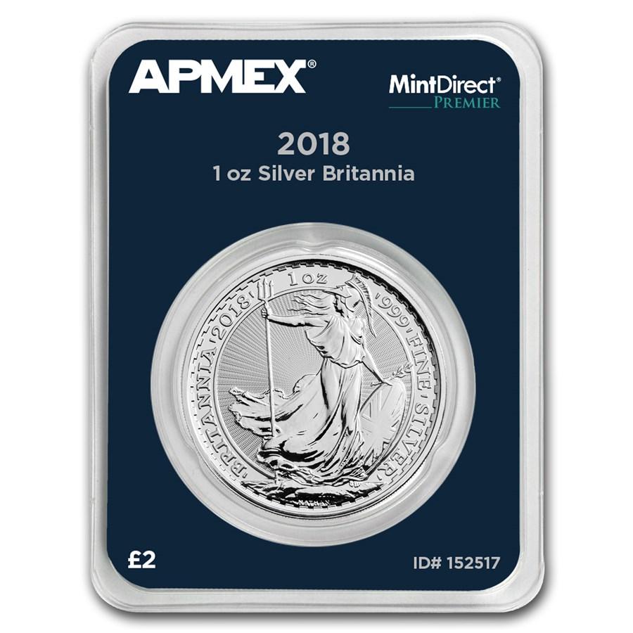 2018 Great Britain 1 oz Silver Britannia (MintDirect® Premier)