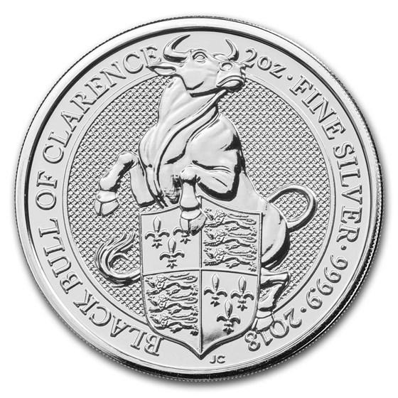 2018 Great Britain 2 oz Silver Queen's Beasts The Bull