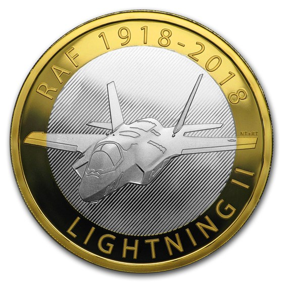 2018 Great Britain £2 Proof Silver Royal Air Force (Lightning II)