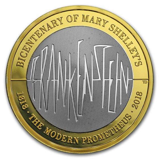2018 Great Britain £2 Silver Proof Frankenstein 200th Anniversary