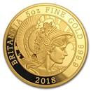 2018 Great Britain 5 oz Proof Gold Britannia
