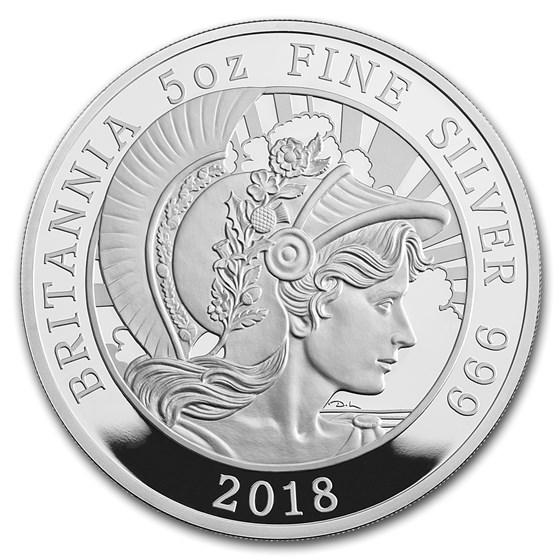 2018 Great Britain 5 oz Proof Silver Britannia