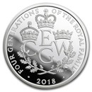 2018 Great Britain £5 Proof Silver Four Generations Piedfort