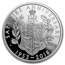 2018 Great Britain £5 Proof Silver Queen's Sapphire Coronation