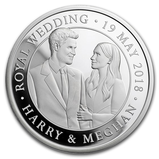 2018 Great Britain £5 Silver Royal Wedding Piedfort Proof