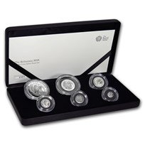 2018 Great Britain 6-Coin Silver Britannia Proof Set