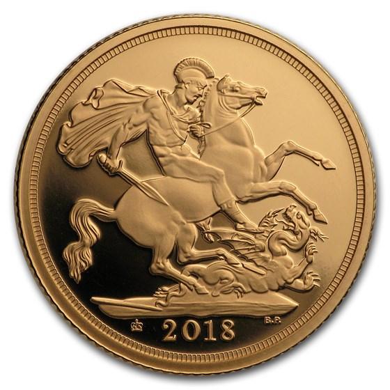 2018 Great Britain Gold Sovereign Proof (Piedfort)