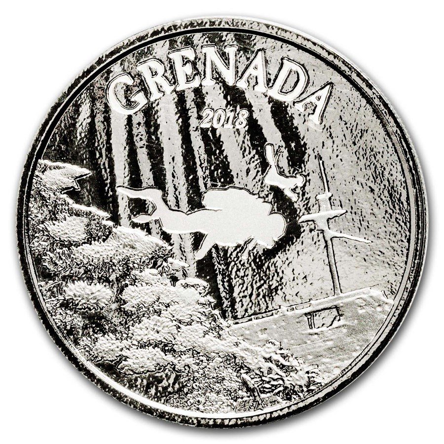 2018 Grenada 1 oz Silver Diving Paradise BU