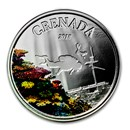 2018 Grenada 1 oz Silver Diving Paradise Proof (Colorized)