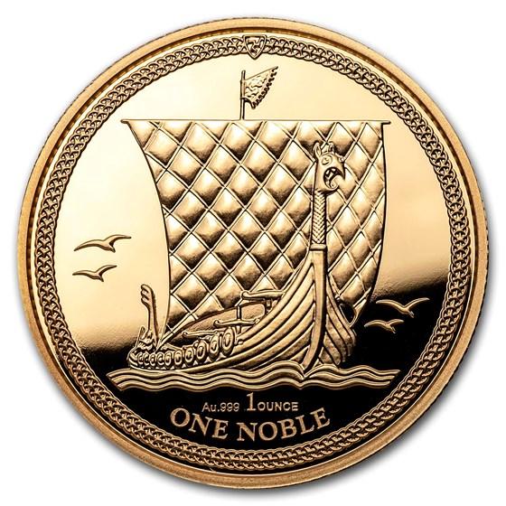 2018 Isle of Man 1 oz Gold Noble BU