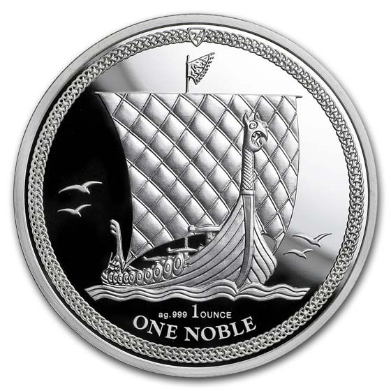 2018 Isle of Man 1 oz Silver Noble Proof