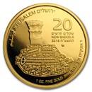 2018 Israel 1 oz Gold The Jerusalem Cardo BU