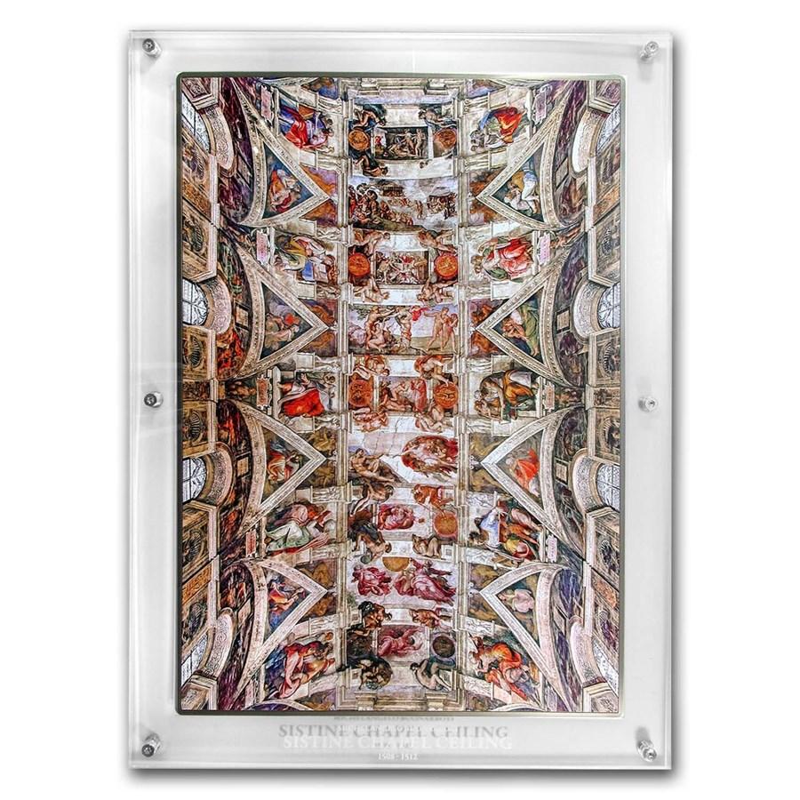 2018 Ivory Coast 1 kilo Silver Giants of Art Sistine Chapel