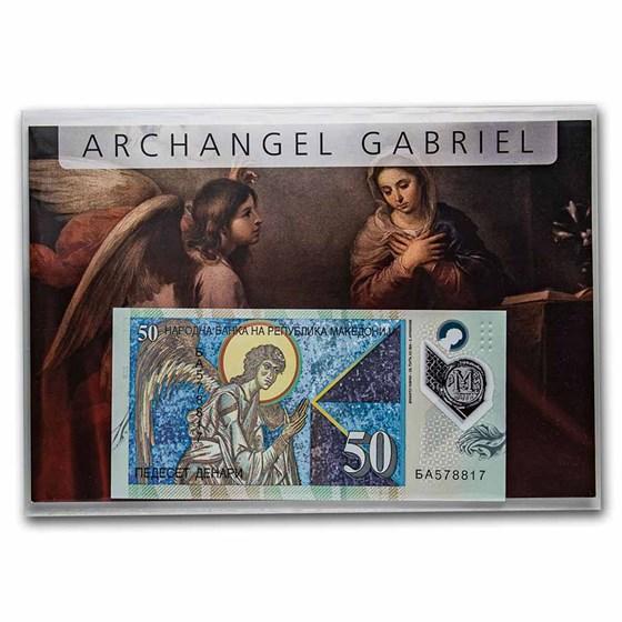 2018 Macedonia 50 Denari Angel Banknote Unc