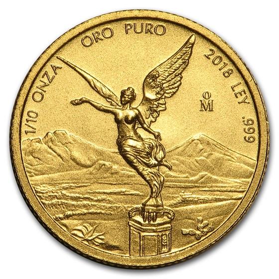 2018 Mexico 1/10 oz Gold Libertad BU