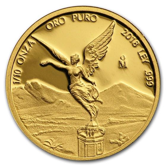2018 Mexico 1/10 oz Proof Gold Libertad