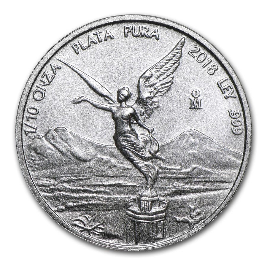 2018 Mexico 1/10 oz Silver Libertad BU