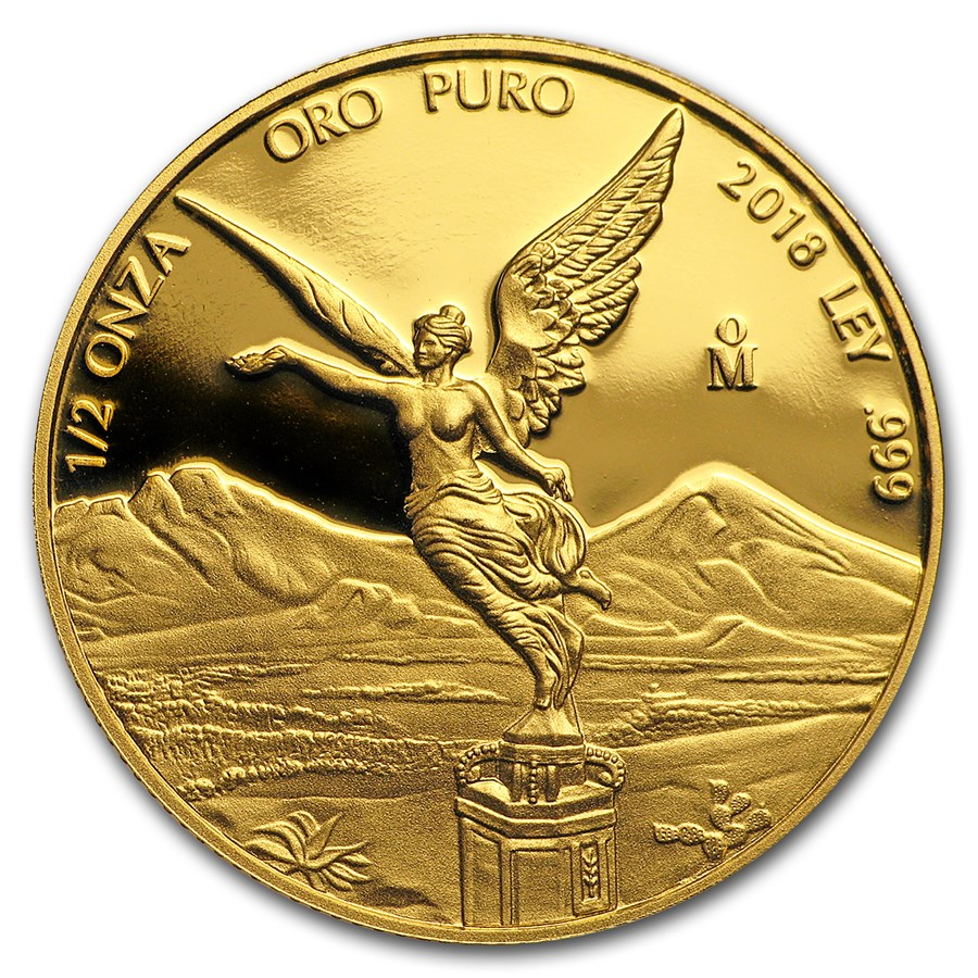 2018 Mexico 1/2 oz Proof Gold Libertad