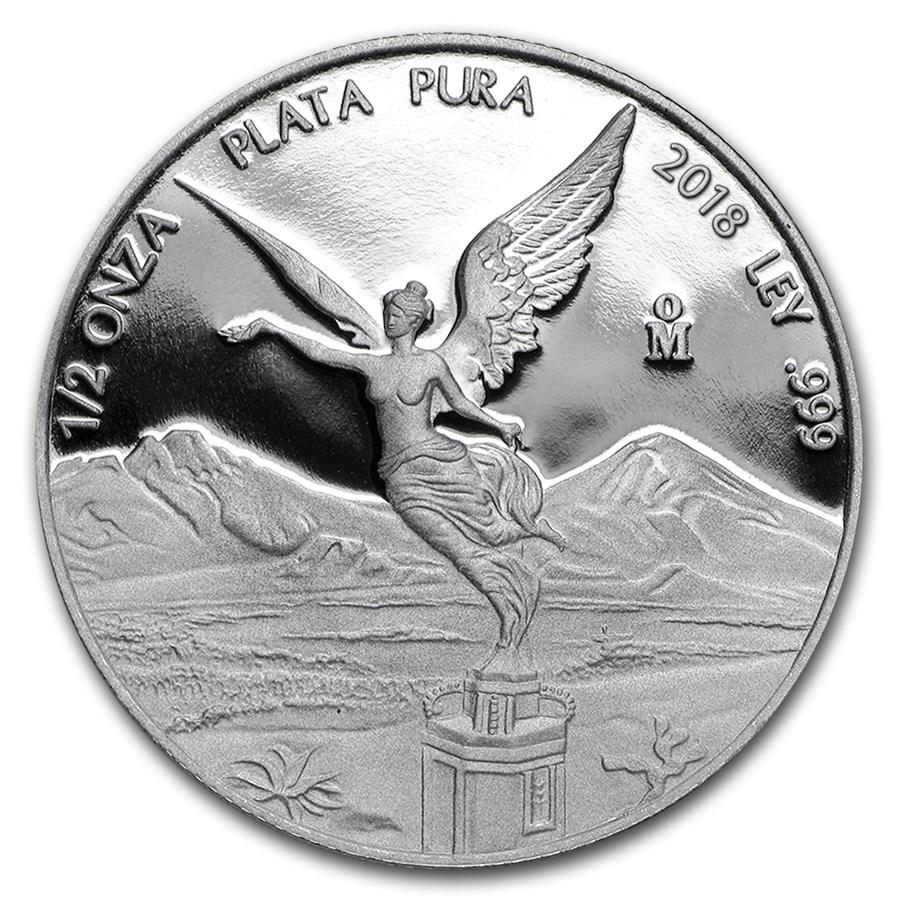 2018 Mexico 1/2 oz Silver Libertad Proof (In Capsule)