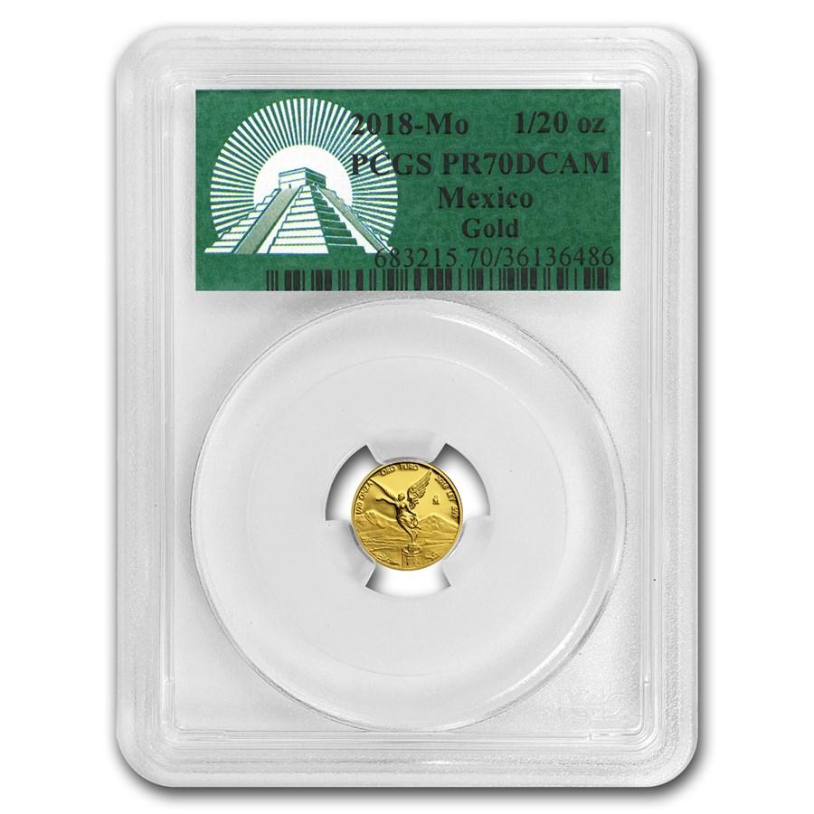 2018 Mexico 1/20 oz Proof Gold Libertad PR-70 PCGS