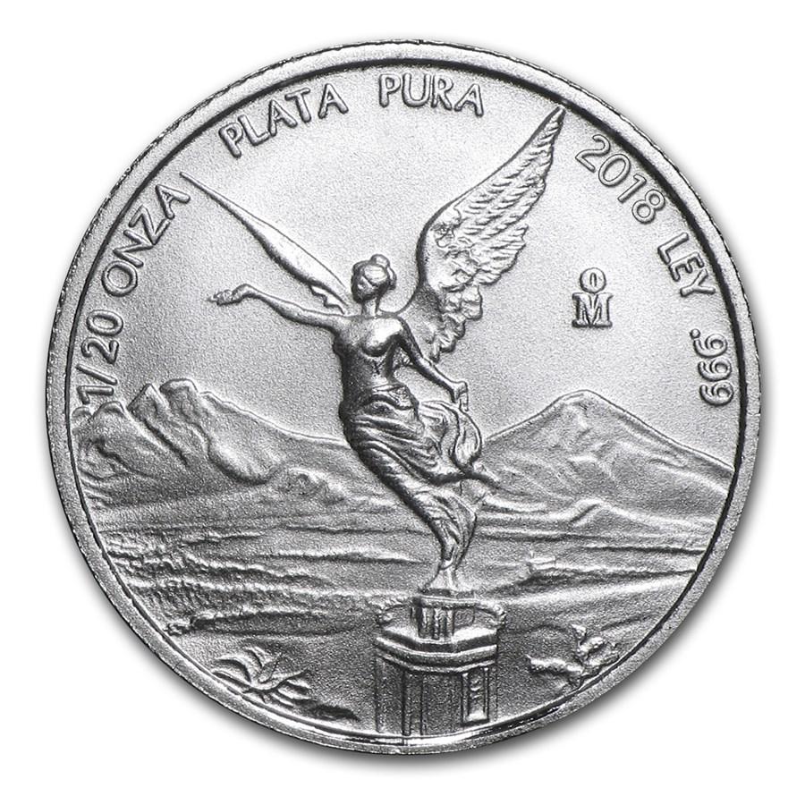 2018 Mexico 1/20 oz Silver Libertad BU