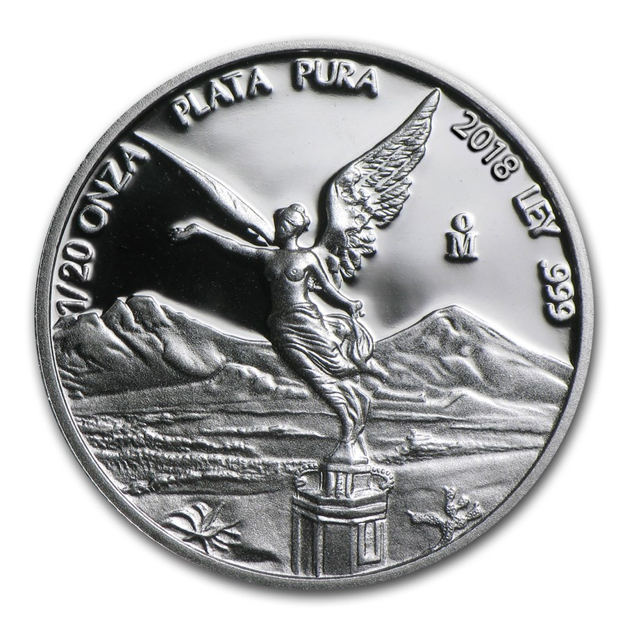 2018 Mexico 1/20 oz Silver Libertad Proof (In Capsule)