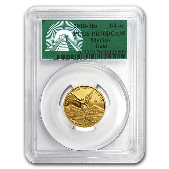 2018 Mexico 1/4 oz Gold Libertad PR-70 PCGS