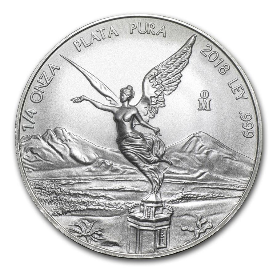 2018 Mexico 1/4 oz Silver Libertad BU