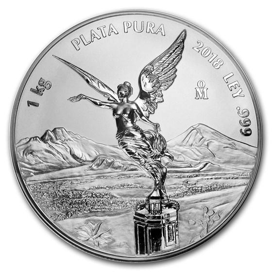 2018 Mexico 1 kilo Silver Libertad Proof Like (w/Box & COA)