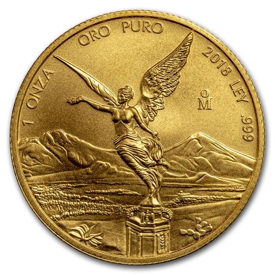 2018 Mexico 1 oz Gold Libertad BU