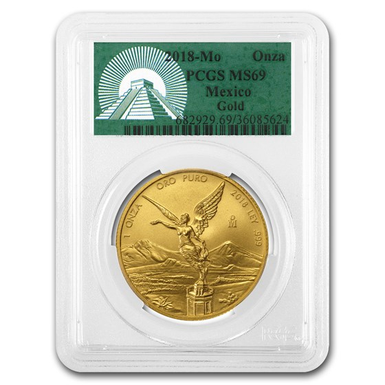 2018 Mexico 1 oz Gold Libertad MS-69 PCGS (Green Label)