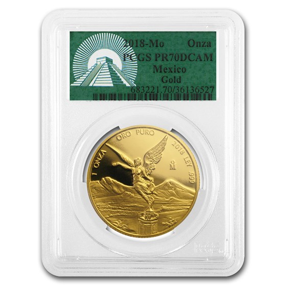 2018 Mexico 1 oz Proof Gold Libertad PR-70 PCGS
