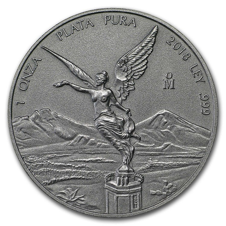 2018 Mexico 1 oz Silver Libertad Antiqued Finish