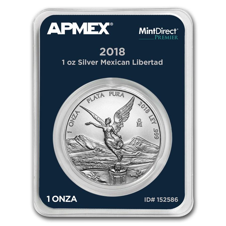 2018 Mexico 1 oz Silver Libertad (MintDirect® Premier Single)
