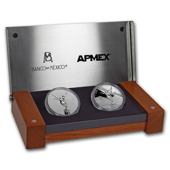 2018 Mexico 2-Coin Silver Libertad Proof/Reverse Proof Set