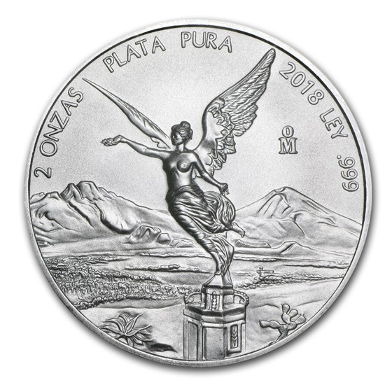 2018 Mexico 2 oz Silver Libertad BU
