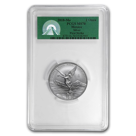 2018 Mexico 2 oz Silver Libertad MS-70 PCGS (FirstStrike®)