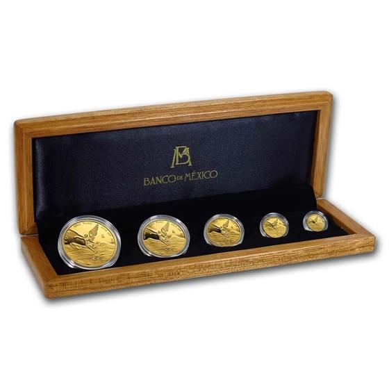 2018 Mexico 5-Coin Gold Libertad Proof Set (1.9 oz, w/Box & COA)