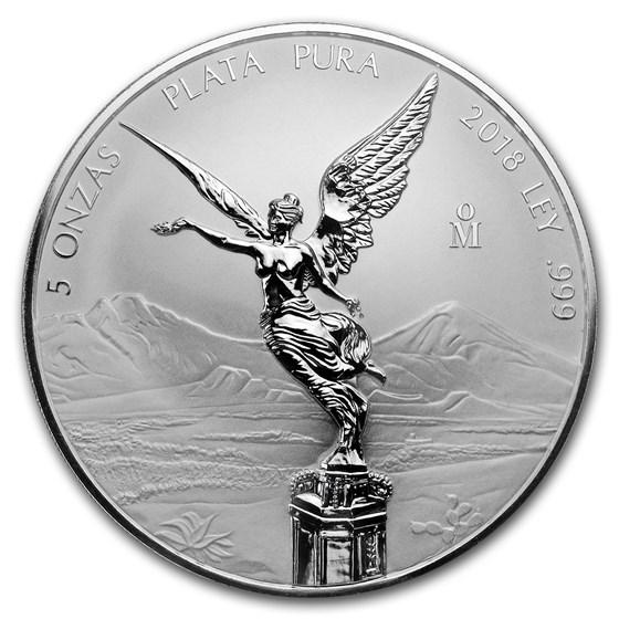 2018 Mexico 5 oz Silver Reverse Proof Libertad