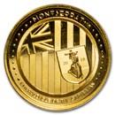 2018 Montserrat 1 oz Gold Emerald Isle of the Caribbean BU