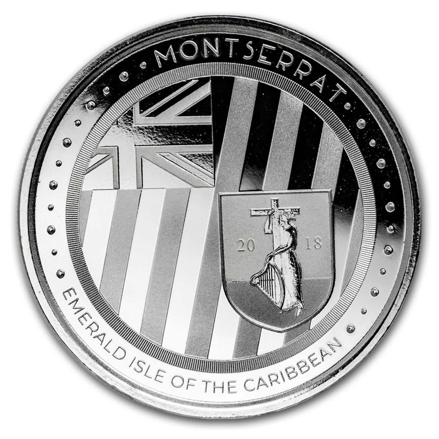 2018 Montserrat 1 oz Silver Emerald Isle of the Caribbean BU