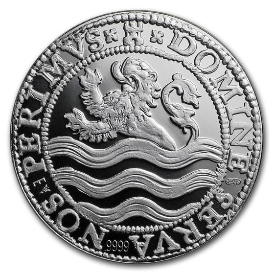 2018 Netherlands 1 oz Silver Proof Lion Dollar (w/Box & COA)