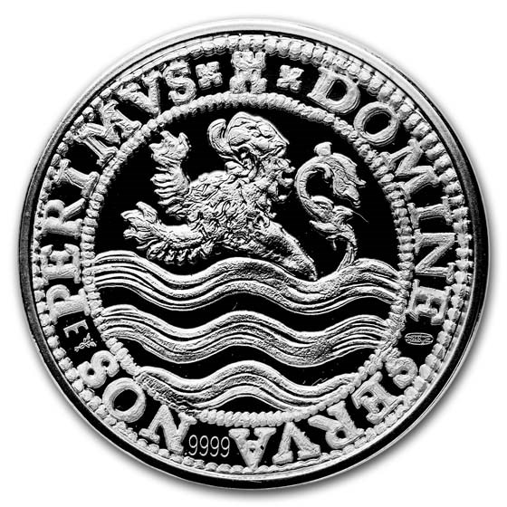 2018 Netherlands 2 oz Silver Proof Lion Dollar (w/Box & COA)