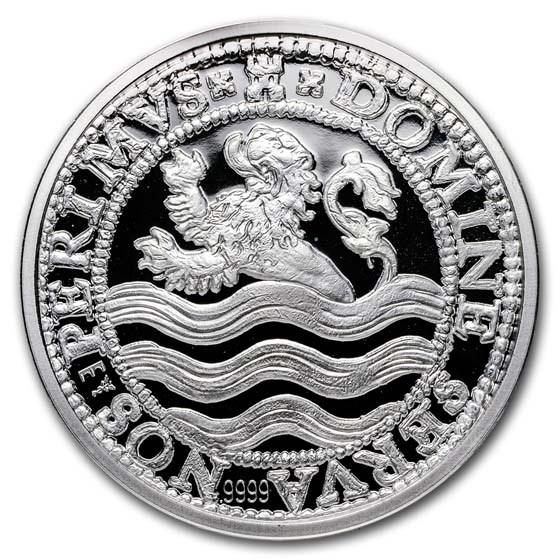 2018 Netherlands 5 oz Silver Proof Lion Dollar (w/Box & COA)